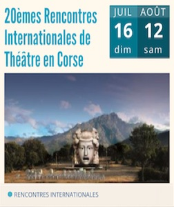 Stage L'ARIA - 20èmes rencontres internationales de théâtre en Corse