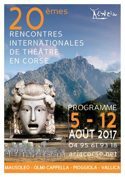 Le programme des 20èmes Rencontres Internationales de Théâtre en Corse