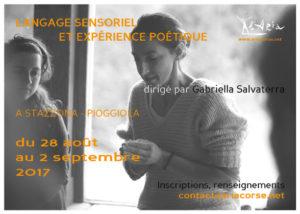 """Stage """"Le langage sensoriel et expérience poétique"""""""