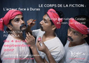 "Stage ""Le corps de la fiction : L'acteur face à Duras"""