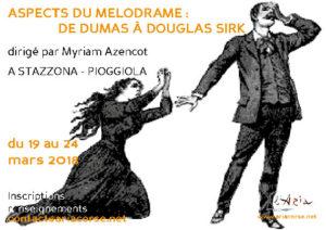 """Stage """"aspects du mélodrame : de Dumas à Douglas Sirk"""""""