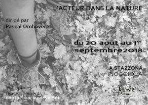 """Stage """"L'acteur dans la nature"""""""