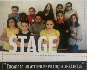 """""""Encadrer un atelier de pratique théâtrale"""" avec Eclats de scène à Rasteau"""