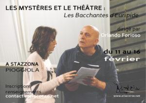 """Stage """"Les mystères et le théâtre : Les Bacchantes d'Euripide"""""""