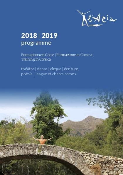 Programme de formation 2018 – 2019