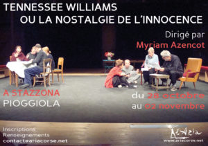 "Stage ""Tennessee Williams ou la nostalgie de l'innocence"""