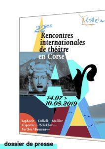 22e Rencontres Internationales de Théâtre en Corse