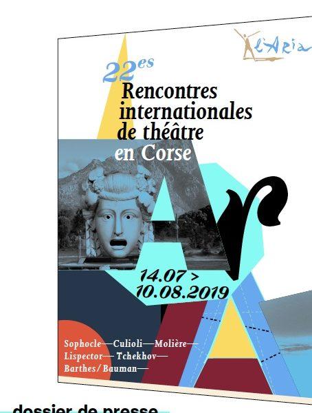 Les 22èmes Rencontres Internationales de Théâtre en Corse