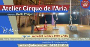 Atelier Cirque de L'Aria 2020 - 2021